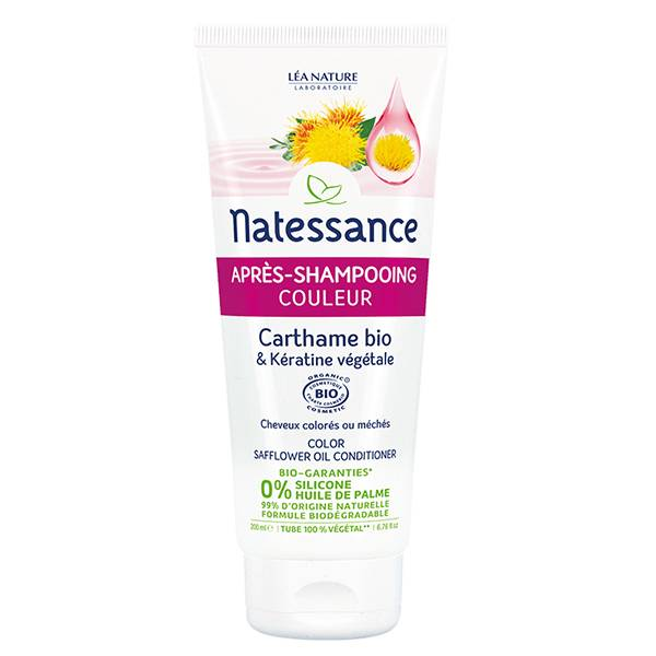 Natessance Après-Shampooing Couleur Carthame & Kératine Bio 500ml