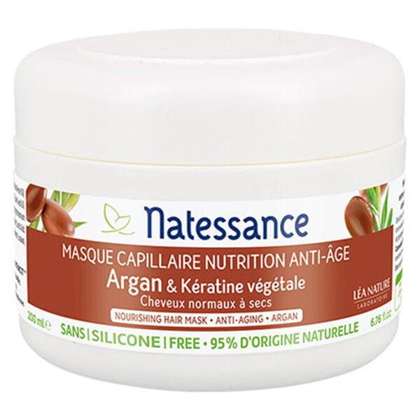 Natessance Masque Capillaire Nutrition Anti-Âge Argan et Kératine Bio 200ml