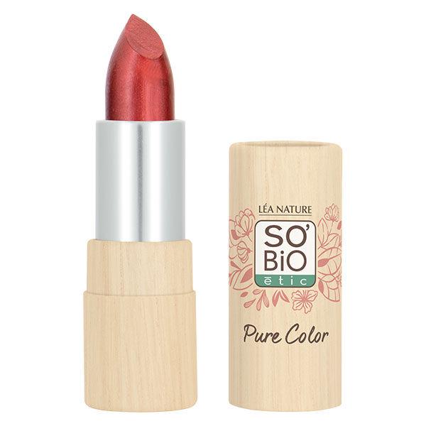 So'Bio Étic Pure Color Rouge à Lèvres Voile Nacré Bio N°20 Rouge Cuivré