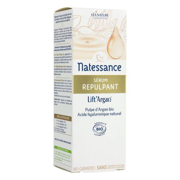 Natessance Lift'Argan Sérum Repulpant Bio 30ml