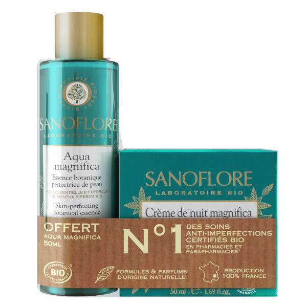 Sanoflore Magnifica Crème Nuit Bio 50ml + Aqua Magnifica Essence Botanique Bio 50ml Offerte