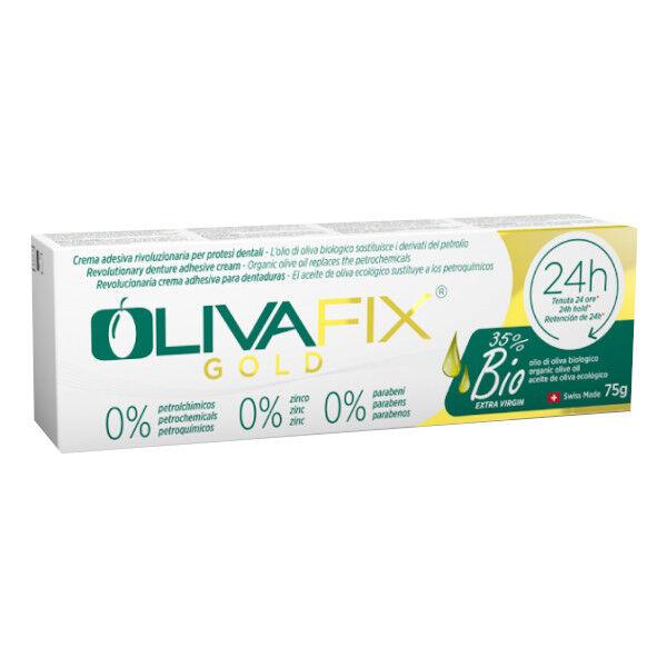 Dental Care Products Bonyf Olivafix Gold Bio Crème Fixative 24h pour Appareil Dentaire 75g