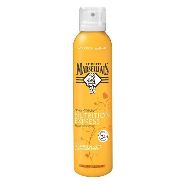 Le Petit Marseillais Spray Hydratant Nutrition Express Beurre de Karité et Amande Douce 200ml