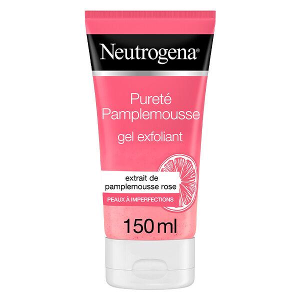 Neutrogena Visibly Clear Gel Nettoyant Exfoliant Pamplemousse Rose 200ml