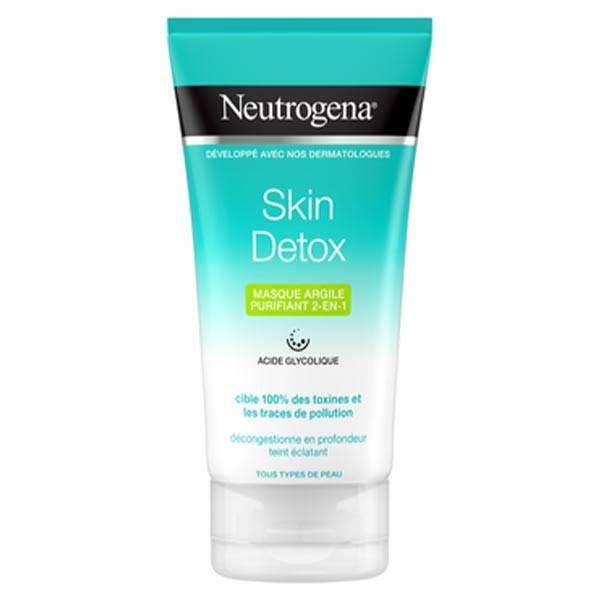 Neutrogena Skin Detox Masque Argile Purifiant 2 en 1 150ml