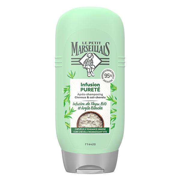 Le Petit Marseillais Après-Shampooing Infusion Pureté Thym Bio et Argile Blanche 200ml