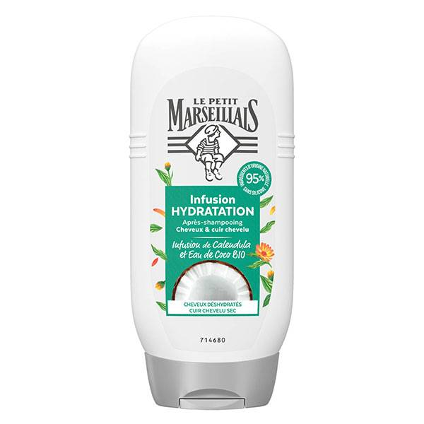 Le Petit Marseillais Après-Shampooing Infusion Hydratation Calendula et Eau de Coco Bio 200ml