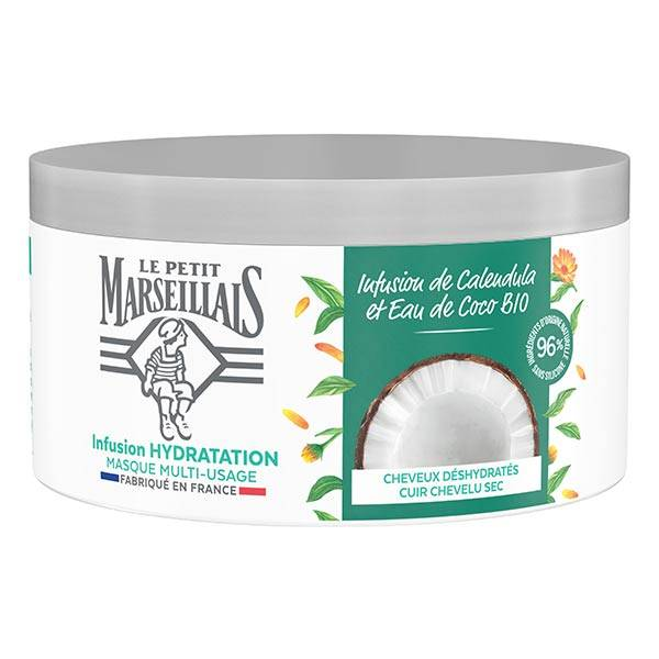 Le Petit Marseillais Masque Infusion Hydratation Calendula et Eau de Coco Bio 300ml