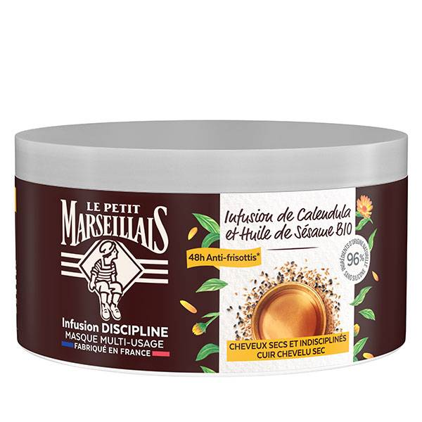 Le Petit Marseillais Masque Infusion Discipline Calendula et Huile de Sésame Bio 300ml