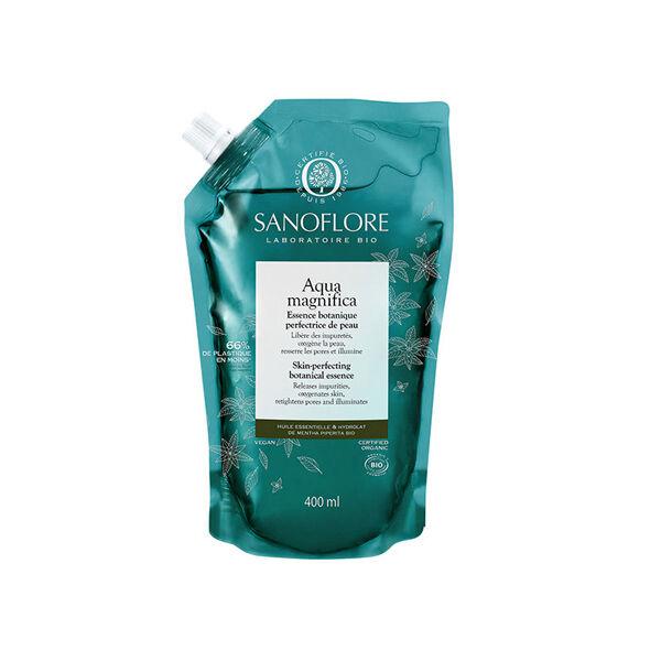 Sanoflore Aqua Magnifica Essence Botanique Lotion Visage Bio Recharge 400ml