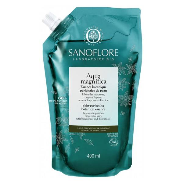 Sanoflore Aqua Magnifica Essence Botanique Visage Anti-Imperfections Recharge Bio 400ml