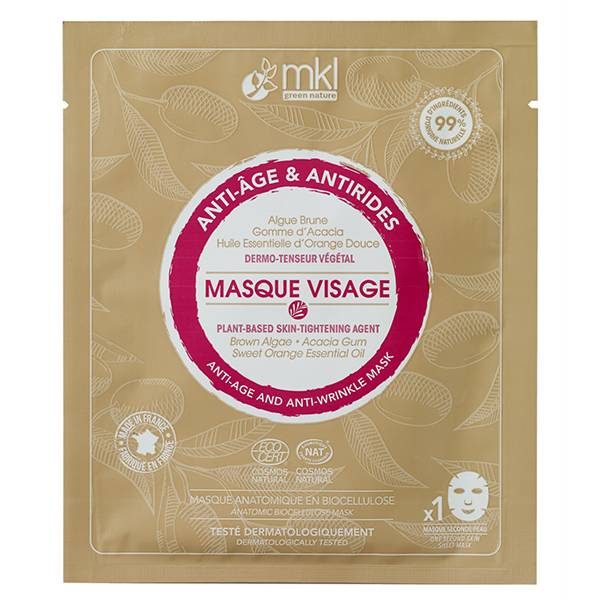 MKL Green Nature Masque Visage Anti-Age et Anti-Rides Bio