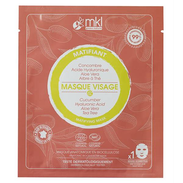MKL Green Nature Masque Visage Matifiant Bio