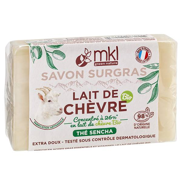 MKL Green Nature Lait de Chèvre Savon Surgras Thé Sencha 100g