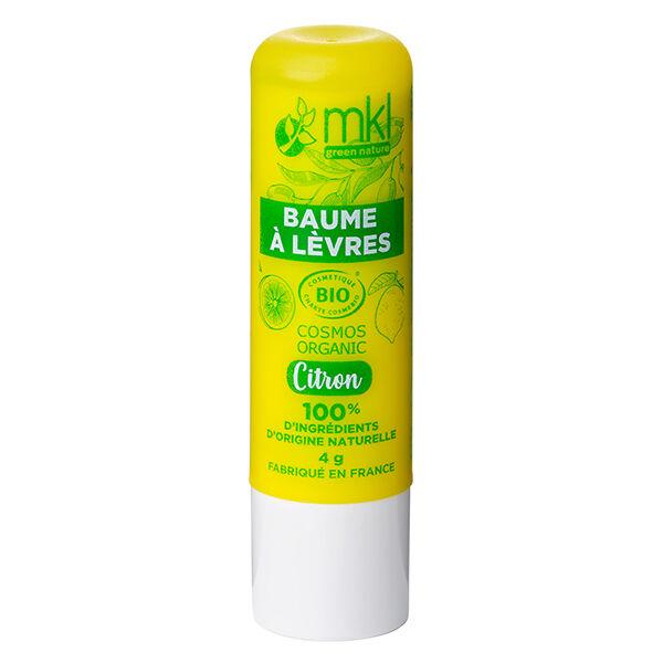 MKL Green Nature Baume à Lèvres Citron Bio 4g
