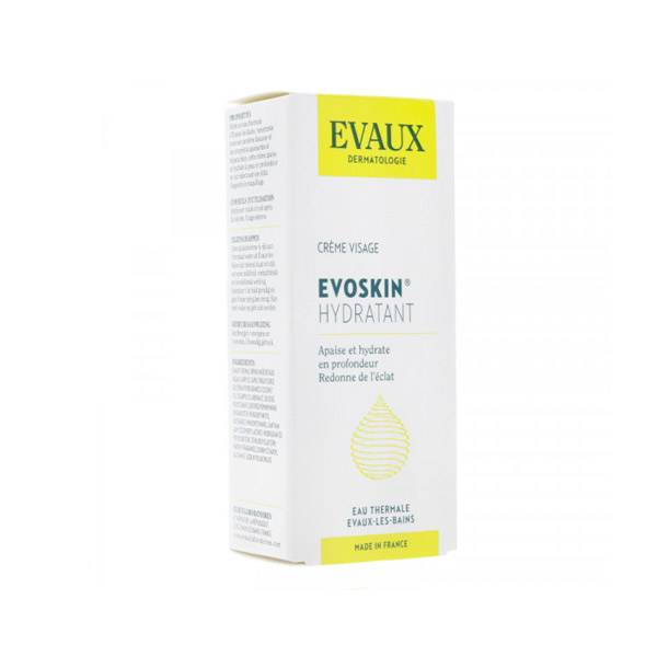 Evaux Evoskin Hydratant Crème Soin Visage Peau Sèche 50ml