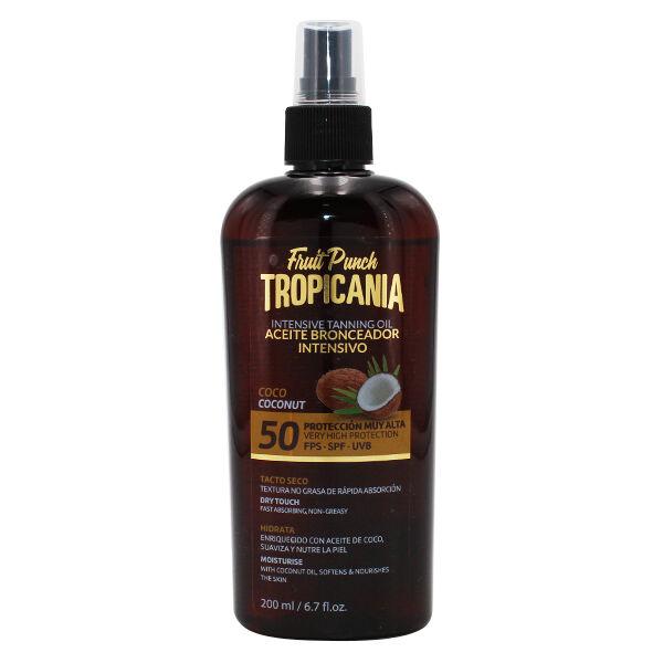 Tropicania Protection Crème Solaire Bronzage Intensif Noix de Coco SPF50 200ml