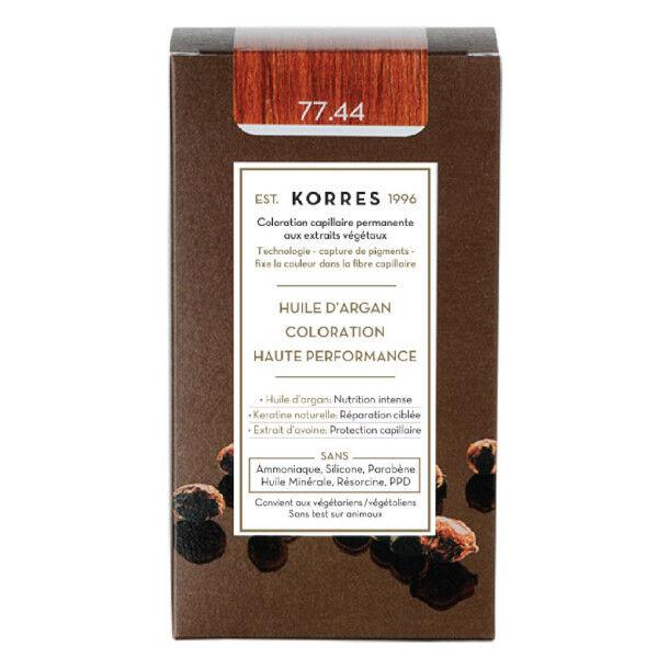 Korres Capillaire Coloration Permanente Blond Cuivré Intense 77.44