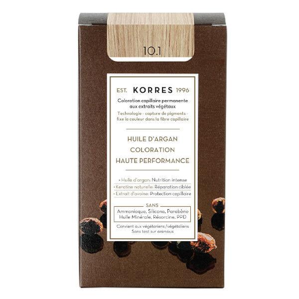 Korres Capillaire Coloration Permanente Blond Platine Cendré 10.1