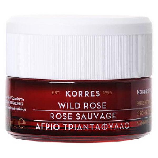 Korres Rose Sauvage Crème Éclat et Premières Rides Peaux Normales à Mixtes 40ml