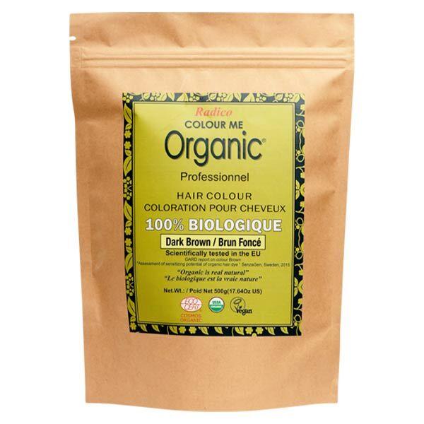 Radico Colour Me Organic Professionnel Coloration Végétale Brun Foncé Bio 500g