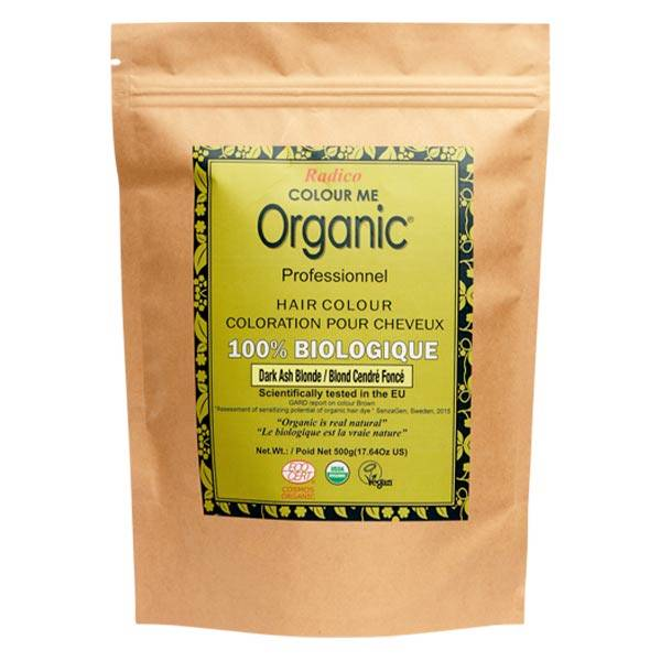 Radico Colour Me Organic Professionnel Coloration Végétale Blond Cendré Foncé Bio 500g