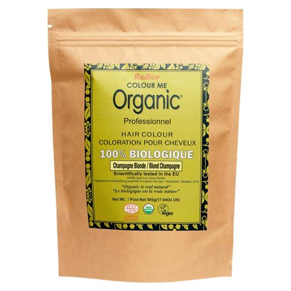 Radico Colour Me Organic Professionnel Coloration Végétale Blond Champagne Bio 500g