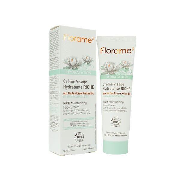 Florame Visage Crème Hydratante Riche Bio 50ml