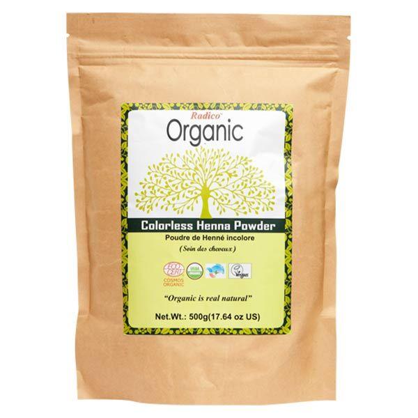 Radico Organic Poudre Indienne Henné Incolore Bio 500g