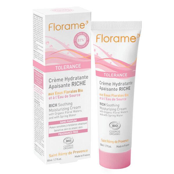 Florame Visage Crème Hydratante Apaisante Riche Bio 50ml