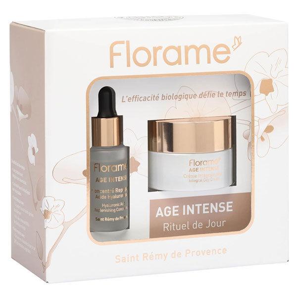 Florame Coffret Age Intense Concentré Repulpant Acide Hyaluronique Bio 30ml + Crème Intégrale Jour Bio 50ml
