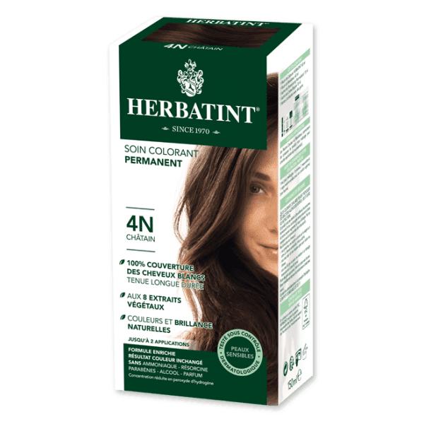 Herbatint Soin Colorant Permanent Couleur Châtain 4N 150ml