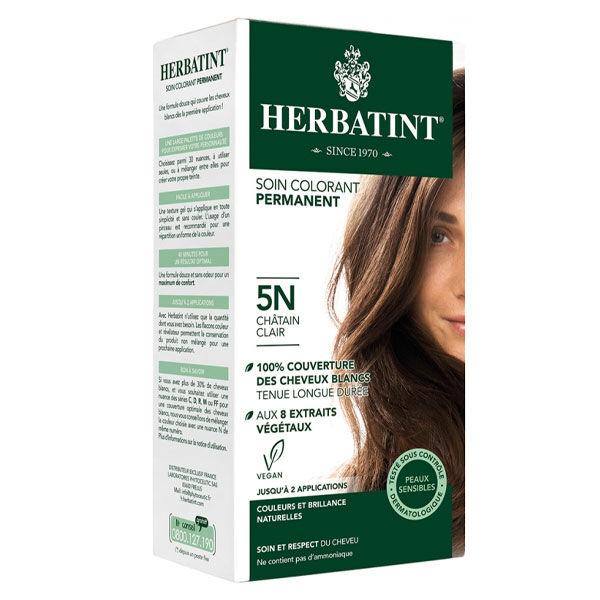 Herbatint Soin Colorant Permanent Couleur Châtain Clair 5N 150ml