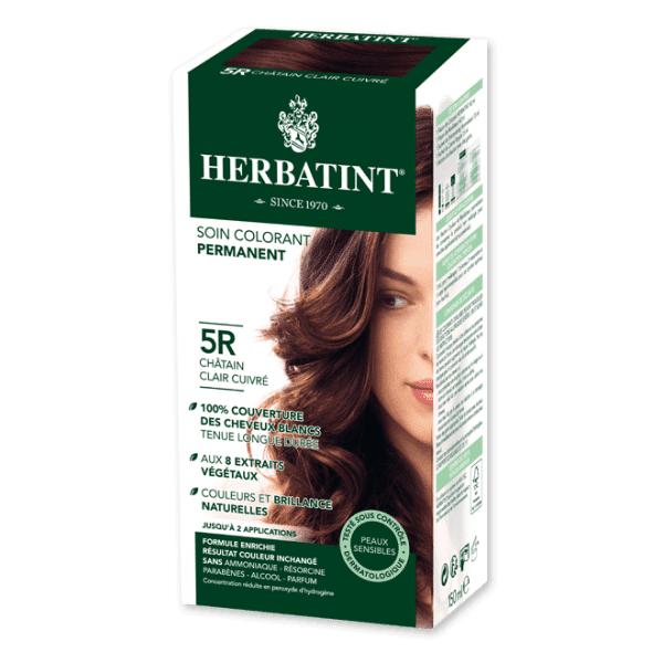 Herbatint Soin Colorant Permanent Couleur Châtain Clair Cuivré 5R 150ml