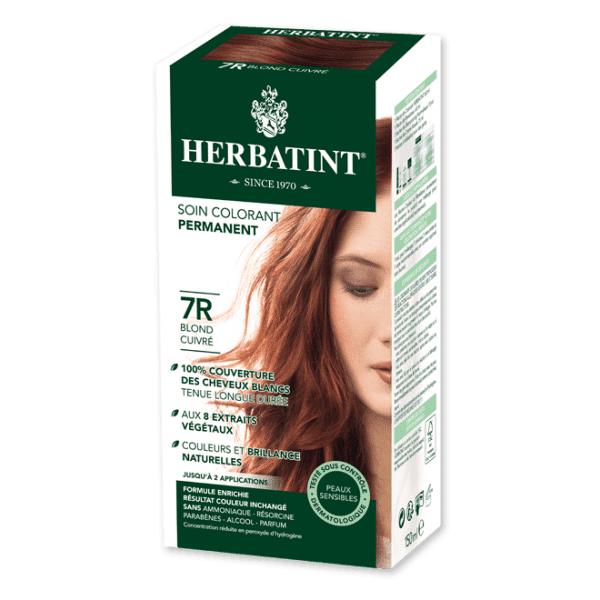 Herbatint Soin Colorant Permanent Couleur Blond Cuivré 7R 150ml
