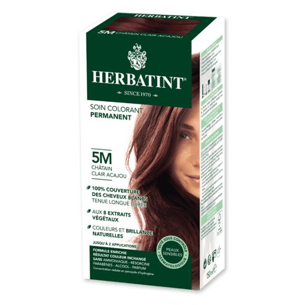 Herbatint Soin Colorant Permanent Couleur Châtain Clair Acajou 5M 150ml