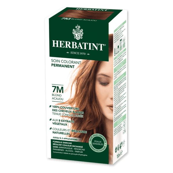 Herbatint Soin Colorant Permanent Couleur Blond Acajou 7M 150ml
