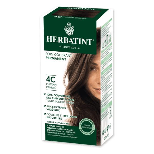 Herbatint Soin Colorant Permanent Couleur Châtain Cendré 4C 150ml
