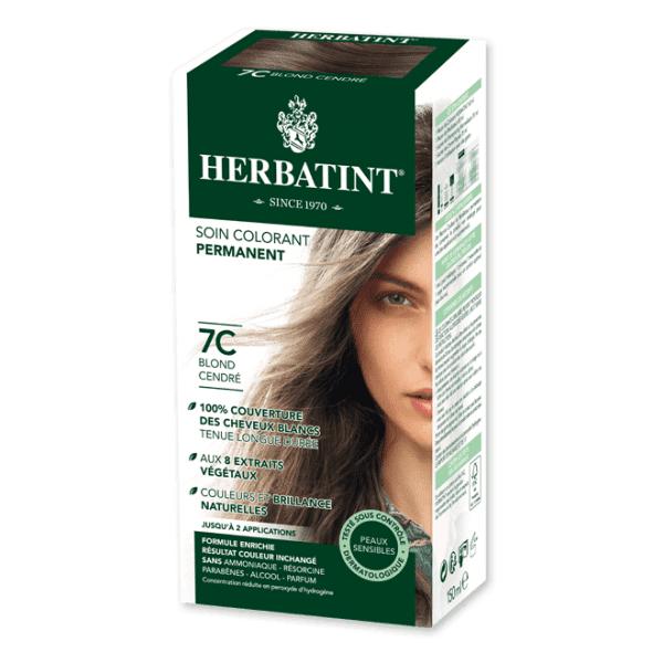 Herbatint Soin Colorant Permanent Couleur Blond Cendré 7C 150ml