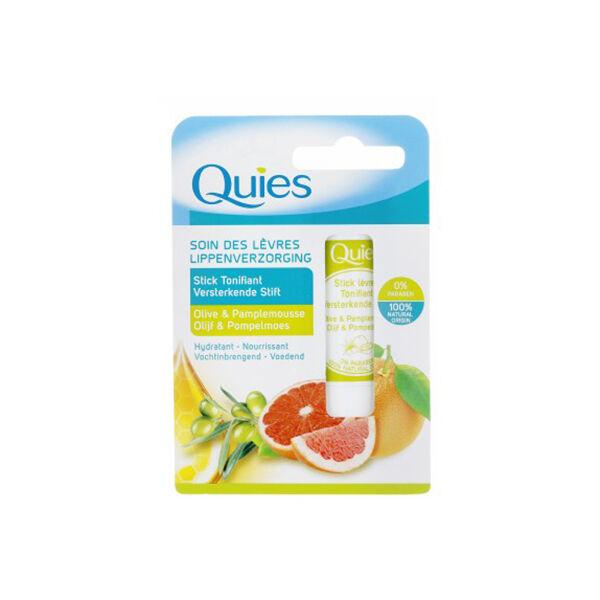Quies Stick Lèvres Tonifiant Olive et Pamplemousse