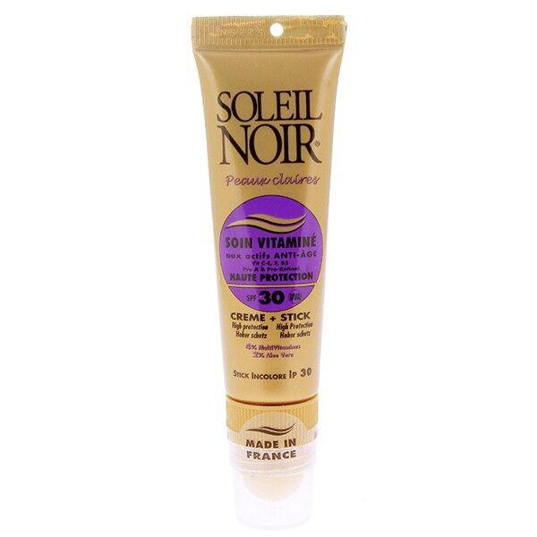 Soleil Noir Soin Vitaminé Crème + Stick SPF30 20ml