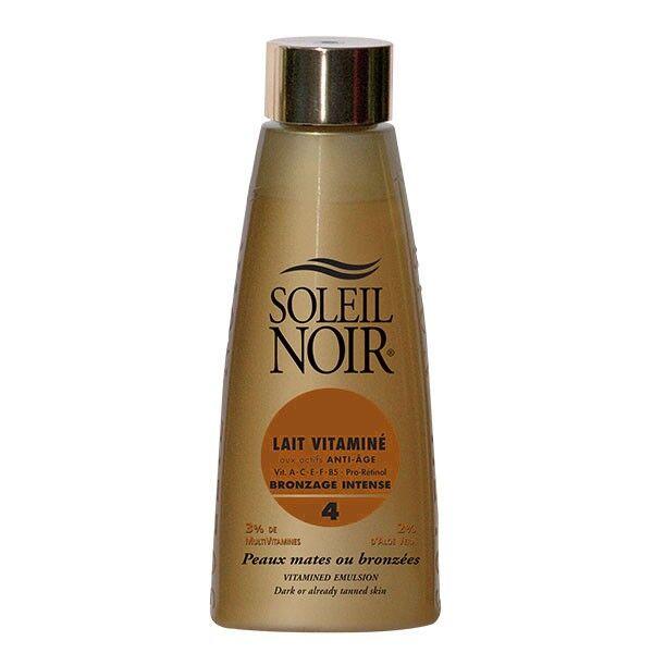 Soleil Noir Lait Vitaminé Bronzage Intense SPF4 150ml