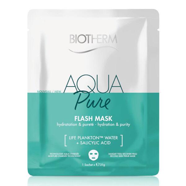 Biotherm Aqua Pure Masque Coton Peaux Grasses et Acnéiques À L'Acide Salicylique 1 unité