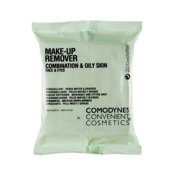 Comodynes Make Up Remover Démaquillant Peaux Mixtes 20 lingettes