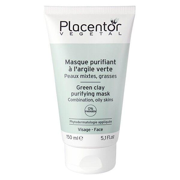 Placentor Masque Purifiant à l'Argile Verte Peaux Mixtes - Grasses 150ml