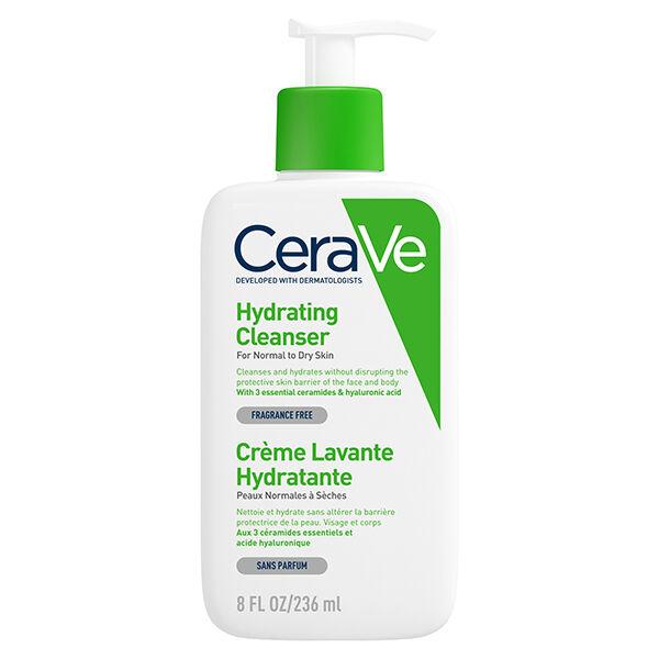 Cerave Crème Lavante Hydratante Visage Corps 236ml