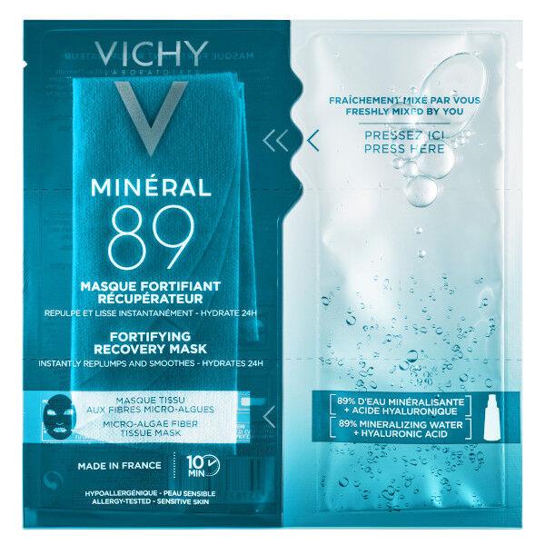 Vichy Mineral 89 Masque Tissu Hydratant Récupérateur Acide Hyaluronique 29g