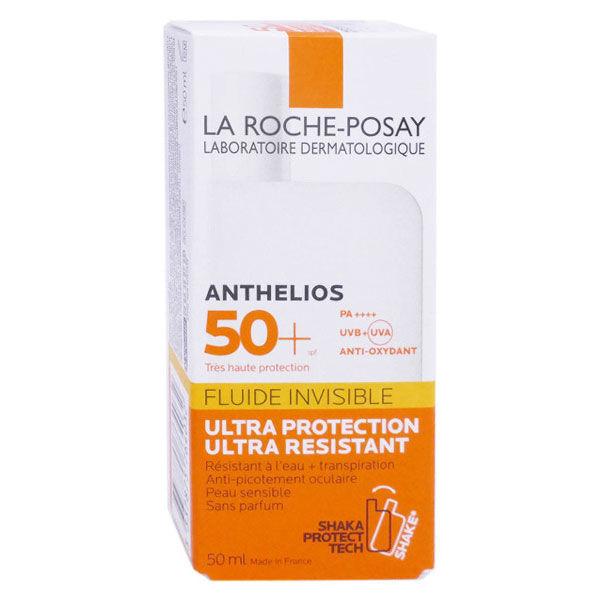 La Roche Posay Anthelios Crème Fluide Invisible Solaire Visage Non Parfumé SPF50+ 50ml