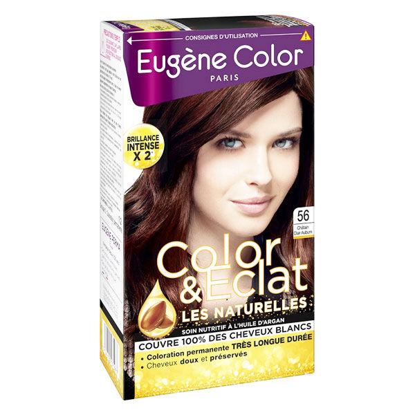 Eugène Color Les Naturelles Crème Colorante Permanente n°56 Châtain Clair Auburn
