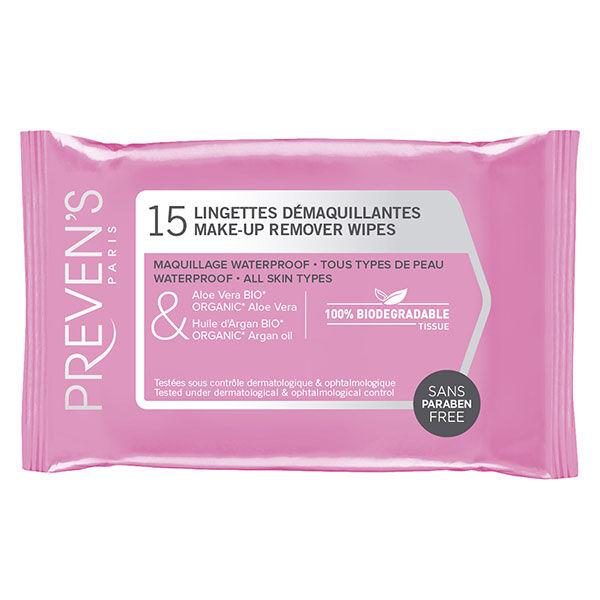 Prevens Lingettes Démaquillantes 15 lingettes